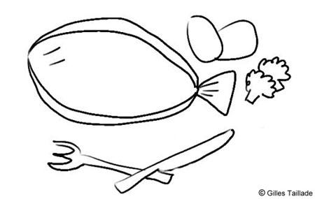 Blagues et humour dessins humoristiques du poisson for Cuire une sole avec la peau
